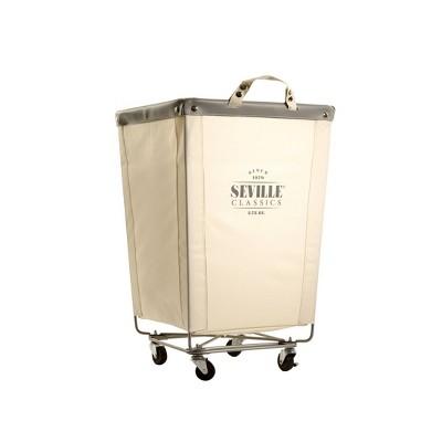 Seville Classics Commercial Heavy Duty Laundry Hamper Canvas
