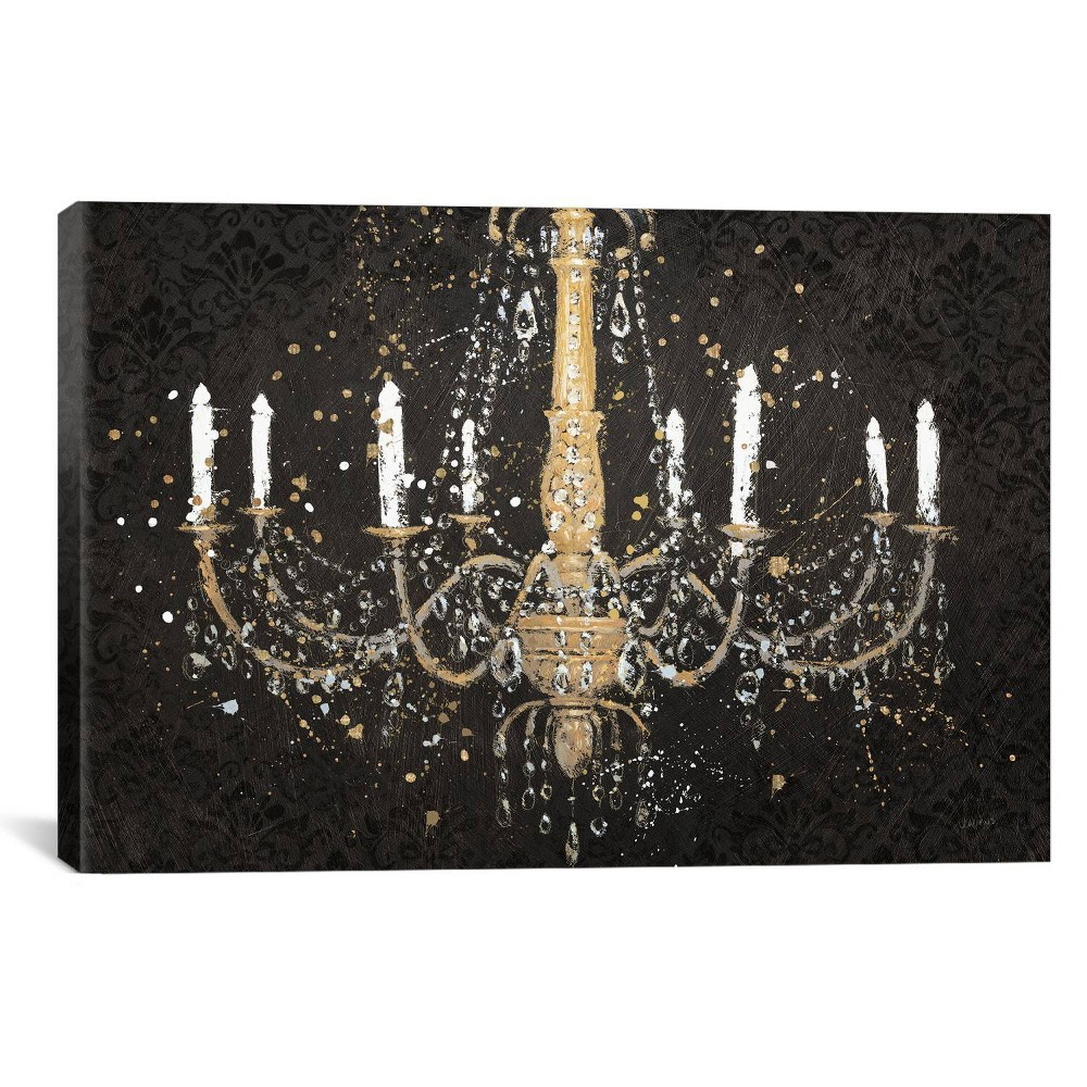 "Image of ""12"""" x 18"""" Grand Chandelier by James Wiens Unframed Wall Canvas Print Black/Gold - iCanvas, Size: 12"""" x 18"""""""