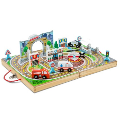 Melissa & Doug Take Along Town Set - image 1 of 4