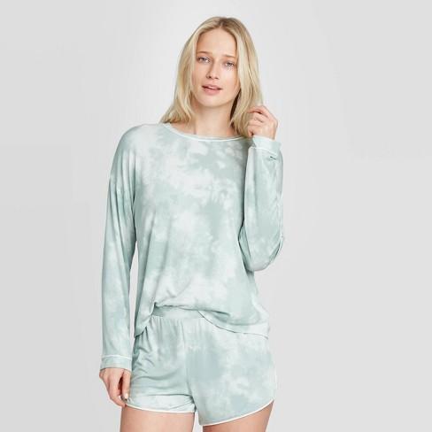 Women's Tie-Dye Beautifully Soft Long Sleeve Pajama Set - Stars Above™ Mint - image 1 of 2