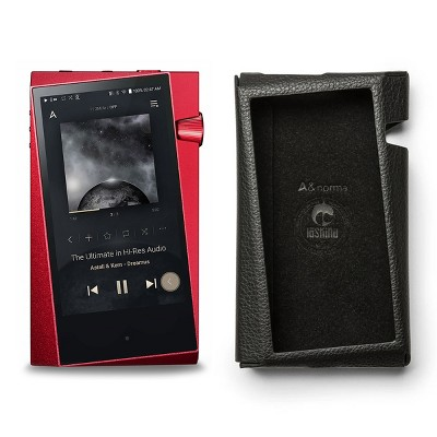 Astell & Kern SR25 Portable Music Player (Carmine Red) with Protective Case