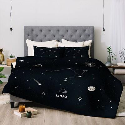 Cuss Yeah Designs Libra Star Constellation Comforter Set - Deny Designs