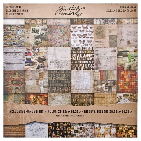 Tim Holtz Scrapbooking Paper Pack - Multicolored - image 1 of 3