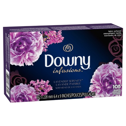 Downy Infusions Lavender Scented Serenity Fabric Softener Dryer Sheets - 105ct - image 1 of 3