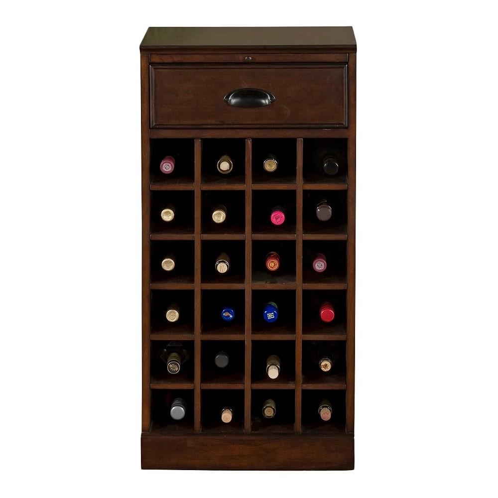 Natalia Modular Wine Storage Cabinet Wood/Chestnut (Brown) - American Heritage