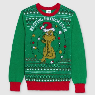 Men's Dr. Seuss' The Grinch Pullover Sweater - Green