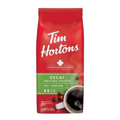 Tim Hortons Medium Roast Ground Coffee - Decaf - 12oz