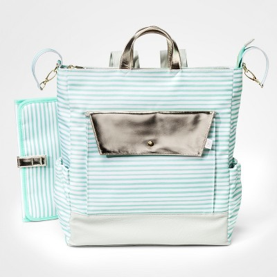 Oh Joy!® Backpack Diaper Bag - Mint Stripes