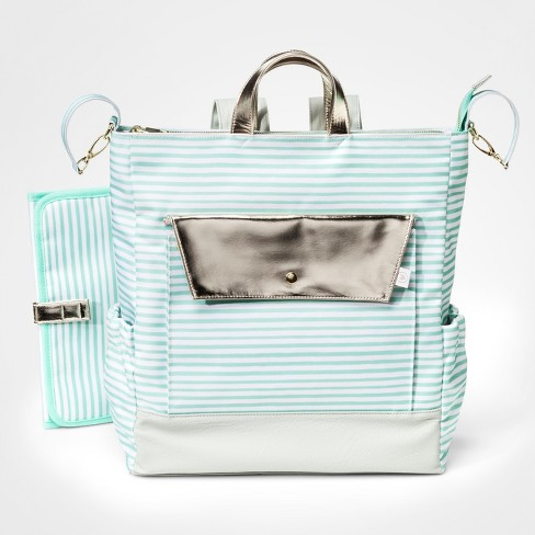 Oh Joy!® Backpack Diaper Bag - Mint Stripes - image 1 of 3