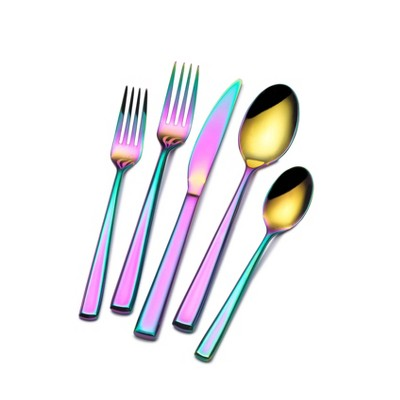 Towle 20pc Stainless Steel Living Dream Rainbow Silverware Set