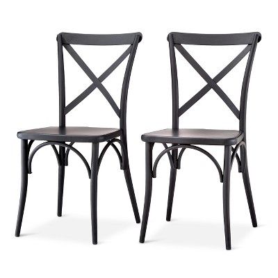 Genial Set Of 2 Malden French Bistro Dining Chair Black   Threshold™