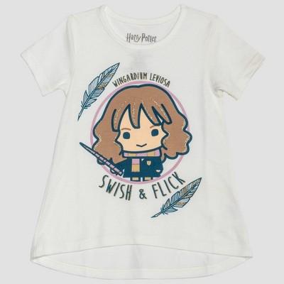 Toddler Girls' Harry Potter Hermione Granger Short Sleeve T-Shirt - White 18M
