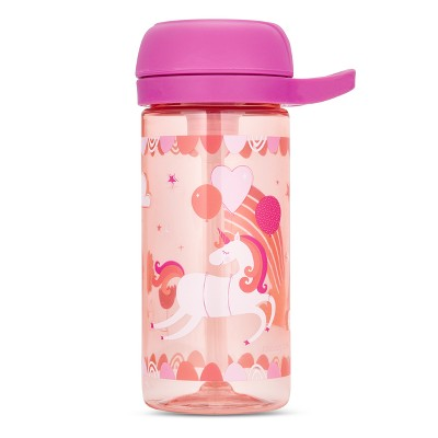 Cheeky Plastic Kids Bottle With Straw 17oz Unicorn - Pink