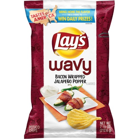 Lays Wavy Bacon Wrapped Jalapeno Popper - 7.5oz - image 1 of 2