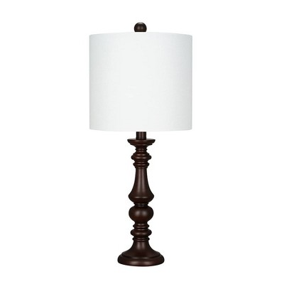 """23"""" Faux Wood Table Lamp White (Includes LED Light Bulb) - Cresswell Lighting"""