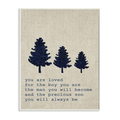 10 x0.5 x15  You Are Loved Son Trees Wall Plaque Art - Stupell Industries