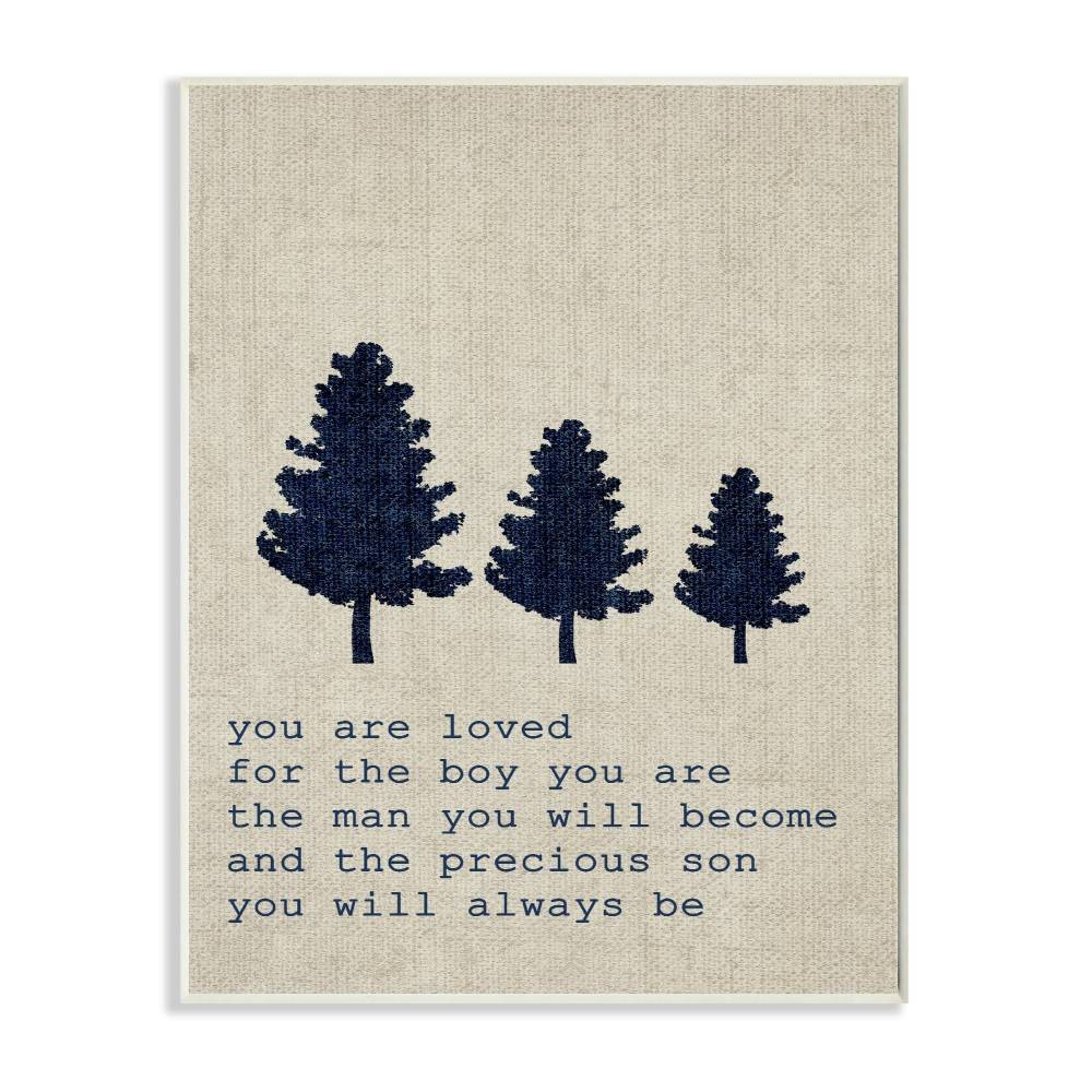 "Image of ""10""""x0.5""""x15"""" You Are Loved Son Trees Wall Plaque Art - Stupell Industries"""