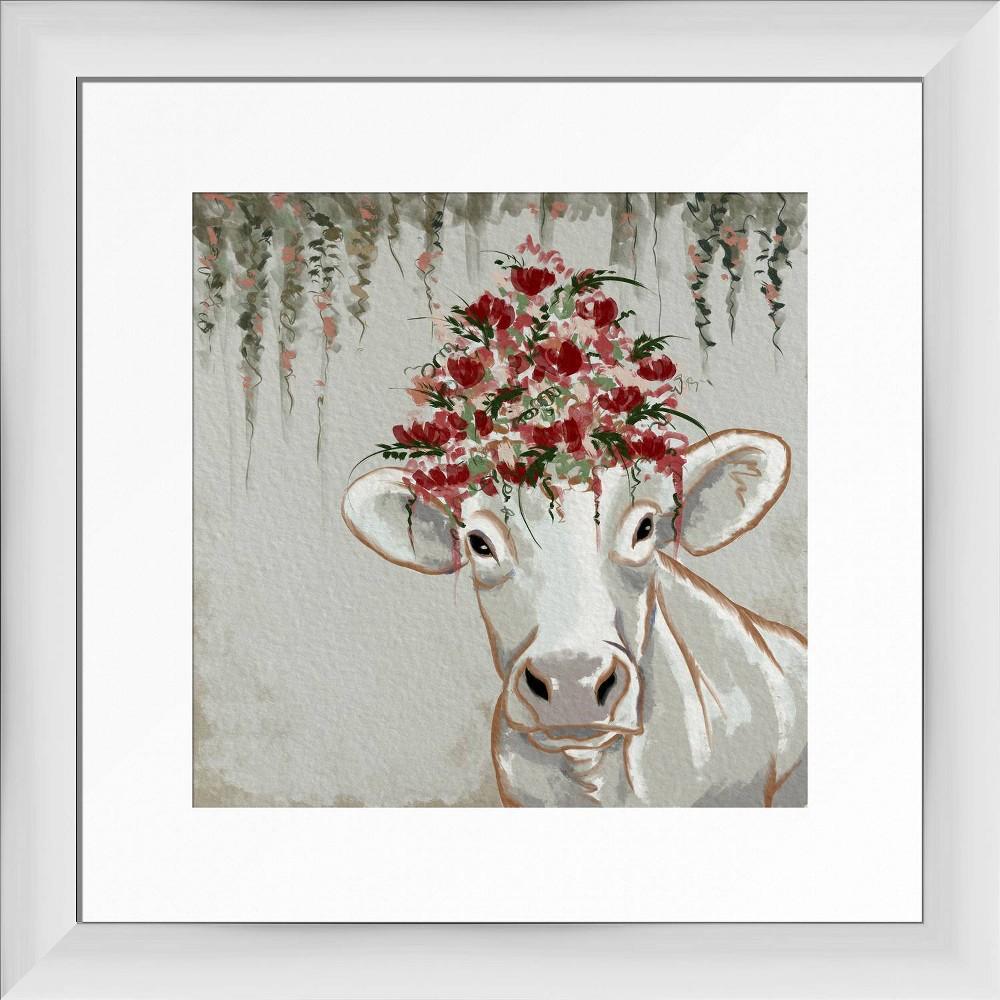 13 34 X 13 34 Aesthetic Framed Wall Art White Ptm Images