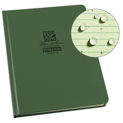 "Casebound Notebook Special Ruled 6.75"" x 8.75"" Green - Rite in the Rain"