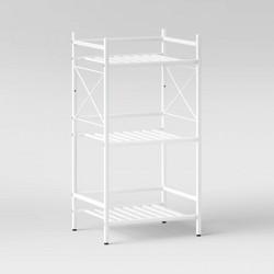 3 -Tier Square Tube Decorative Storage Cabinet - Threshold™