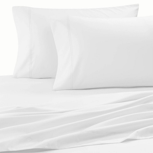 400 Thread Count Ultimate Percale Cotton Solid Pillowcase Set - Purity Home - image 1 of 3
