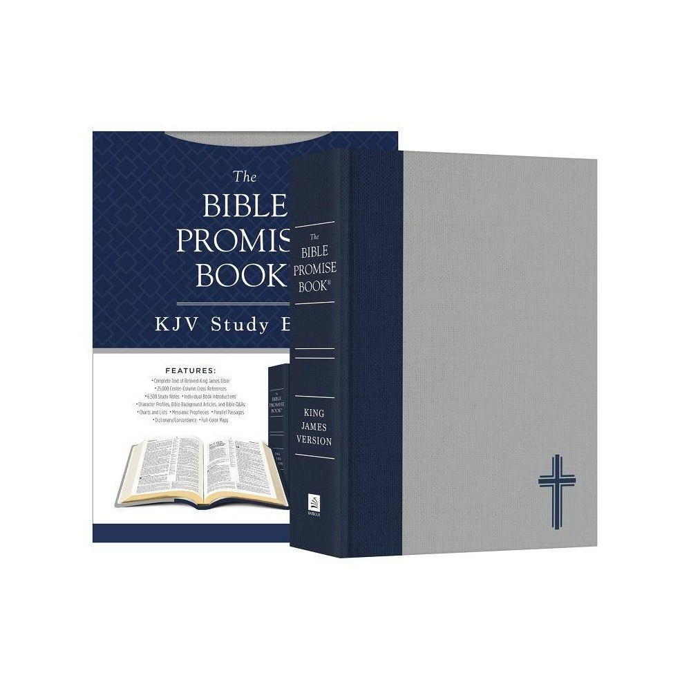 The Bible Promise Book KJV Bible--Oxford Navy - by Compiled by Barbour Staff (Hardcover)