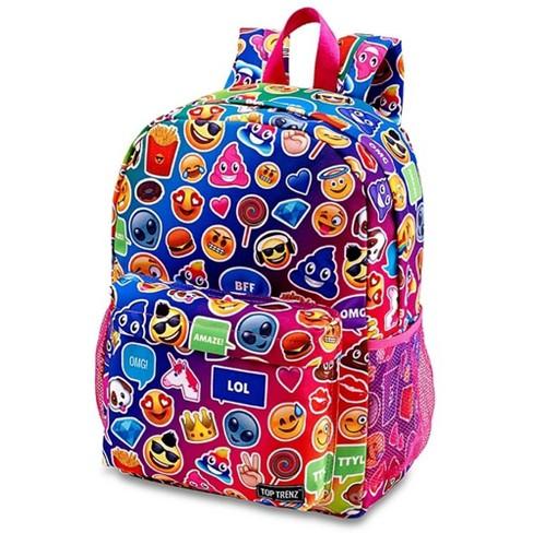 Top Trenz Inc Multi Mojicon Funk 2 Zipper Backpack - image 1 of 1