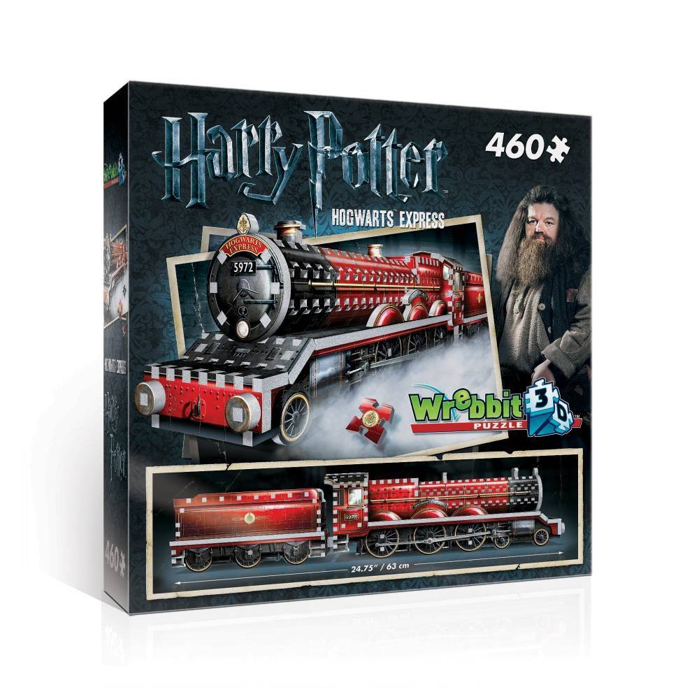 Wrebbit Hogwarts Express 3D Puzzle 460pc Come on, step right this way! Get on board the Hogwarts Express for a magical journey to Hogwarts School of Witchcraft and Wizardry. Build this 460-piece 3D puzzle version of the iconic steam engine and embark on a voyage full of surprises! Assembled dimensions: 24.75 inches L x 3.5 inches W x 5.25 inches H. Wrebbit 3D puzzles have snug and tight fitting foam back pieces that are easy to handle. They are the sturdiest 3D puzzles on the market. Highest quality of design and illustration. Made in Canada. Age - 12 and up. Warning: Choking Hazard -- Small parts. Not for children under 3 yrs. Gender: Unisex.