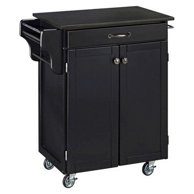 Small Kitchen Cart With Granite Top Wood/Black   Home Styles