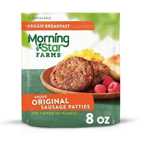 Morningstar Farms Veggie Breakfast Original Sausage Frozen Patties 8oz Target