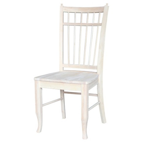Birdcage Dining Chair Wood/Ready to Finish (Set of 2) - International Concepts - image 1 of 2