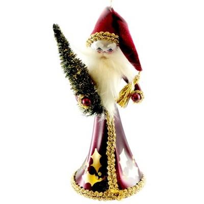 """Italian Ornaments 7.25"""" Santa Tree Red Ornament Italian Victorian  -  Tree Ornaments"""