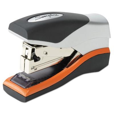 Swingline Optima 40 Compact Stapler Half Strip 40-Sheet Capacity Black/Silver/Orange 87842