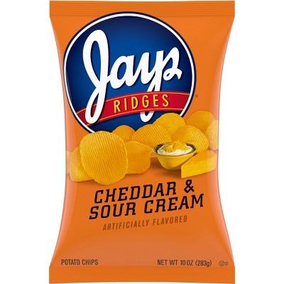 Jays Ridges Cheddar & Sour Cream Potato Chips - 10oz