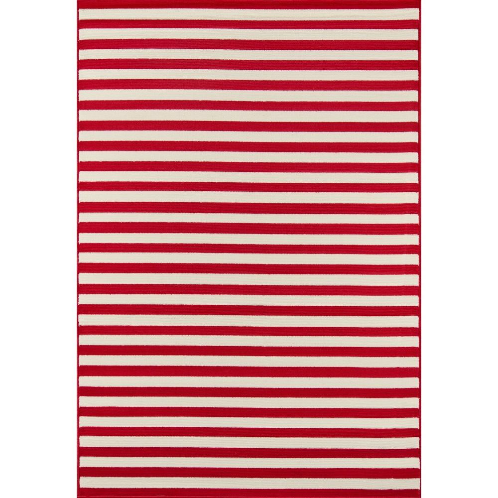 Indoor/Outdoor Stripes Area Rug - Red (5'3