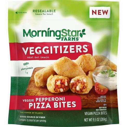 MorningStar Farms Veggitizers Veggie Pepperoni Pizza Bites - 9.5oz - image 1 of 3