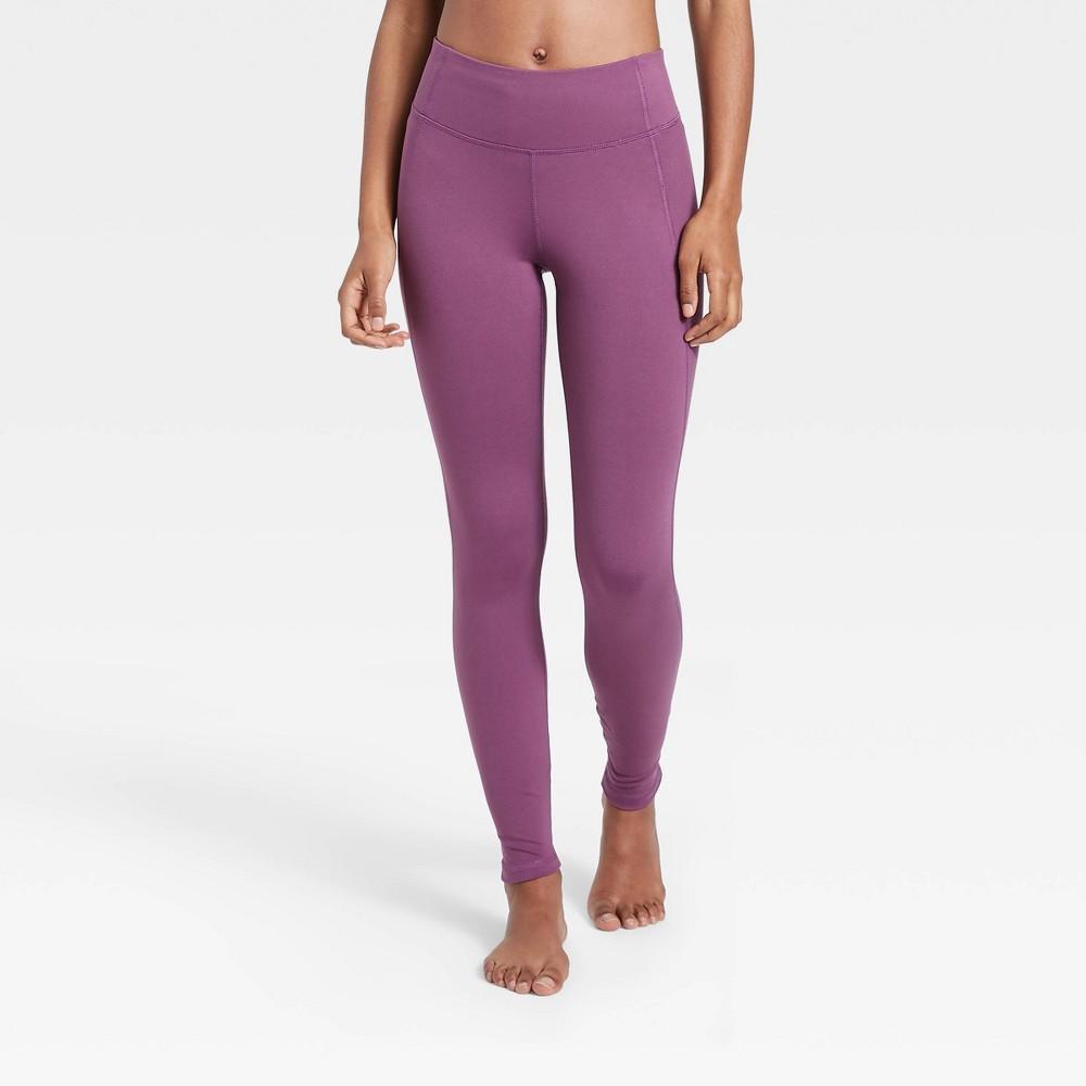 Women 39 S Simplicity Mid Rise Leggings All In Motion 8482 Dark Plum L