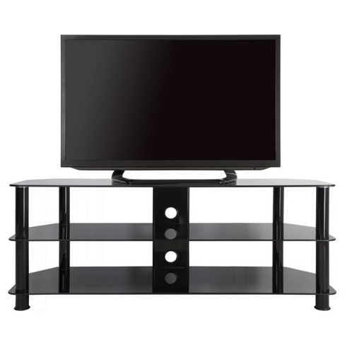 Tv Stand With Cable Management 60 Black Avf