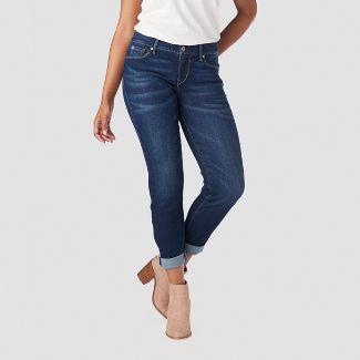 DENIZEN® from Levi's® Women's Mid-Rise Modern Slim Cuffed Jeans - Dark Wash 4