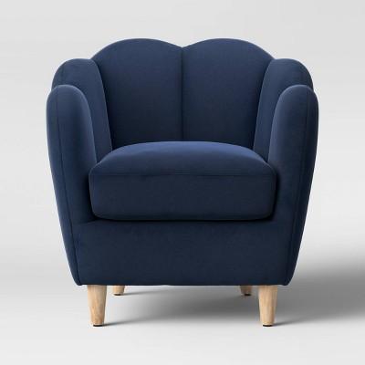 Waterville Upholstered Accent Chair Velvet Navy Blue - Opalhouse™