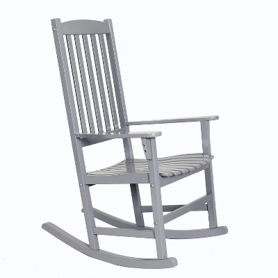 Alston Solid Wood Outdoor Rocking Chair - Slate Gray - Cambridge Casual