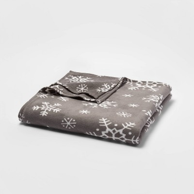 Full/Queen Holiday Fleece Bed Blanket - Wondershop™