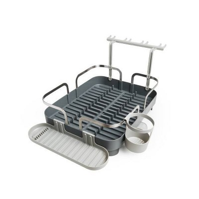 Plastic Holster Dish Drying Rack Gray - Umbra