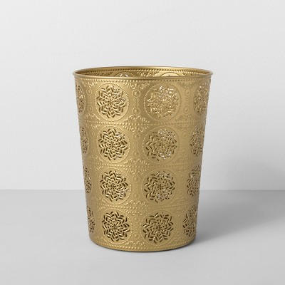 Solid Bathroom Wastebasket Light Gold - Opalhouse™