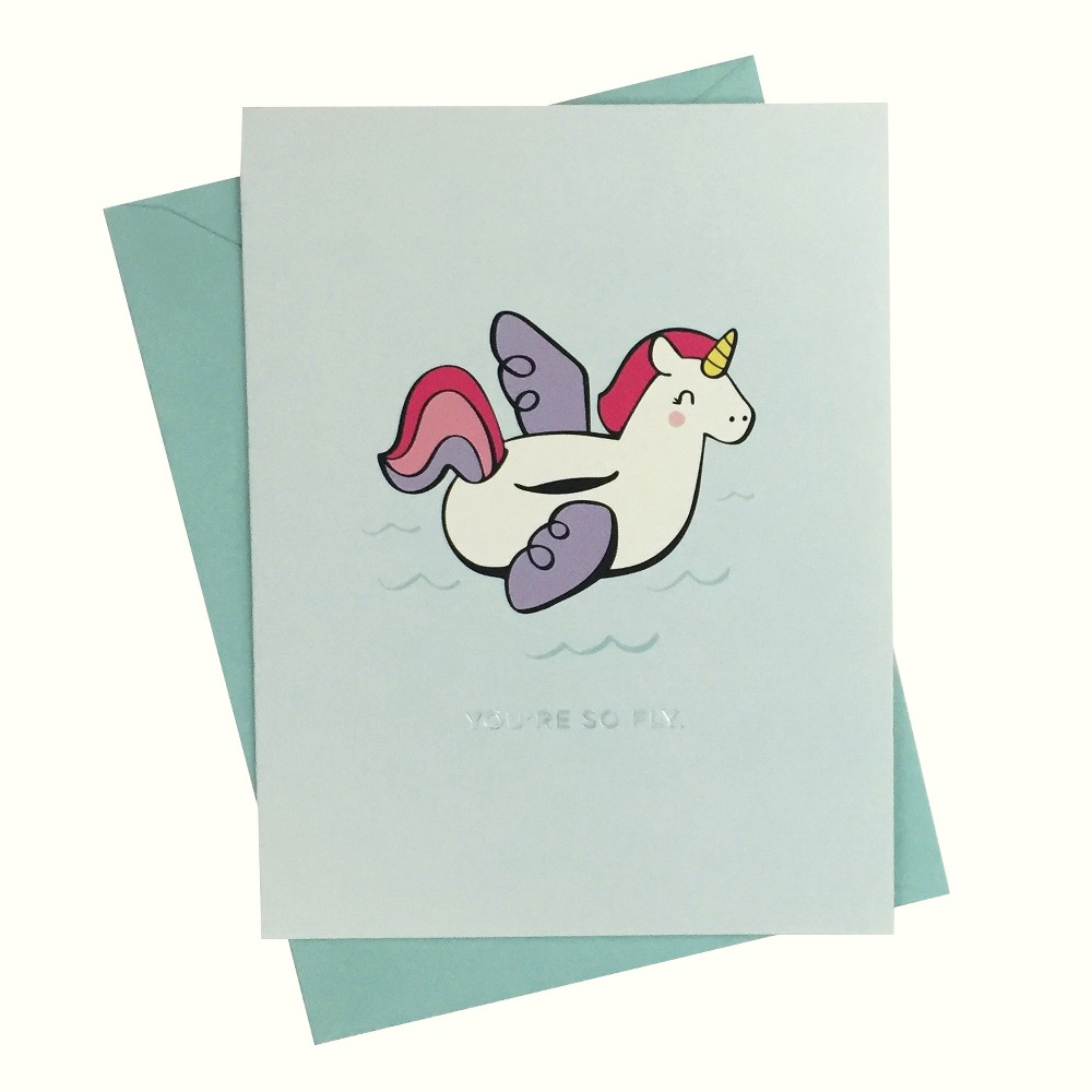 """Image of """"4.25""""""""x5.5"""""""" 10ct Unicorn Print """"""""You're So Fly"""""""" Cards - Paper Riot"""""""
