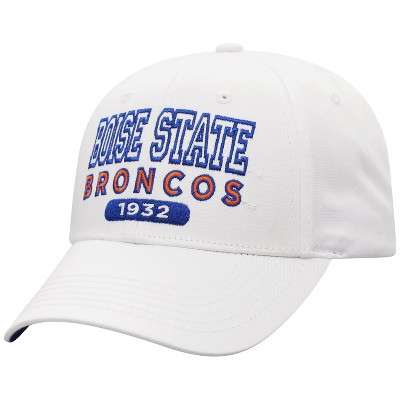 NCAA Boise State Broncos Men's White Twill Structured Snapback Hat