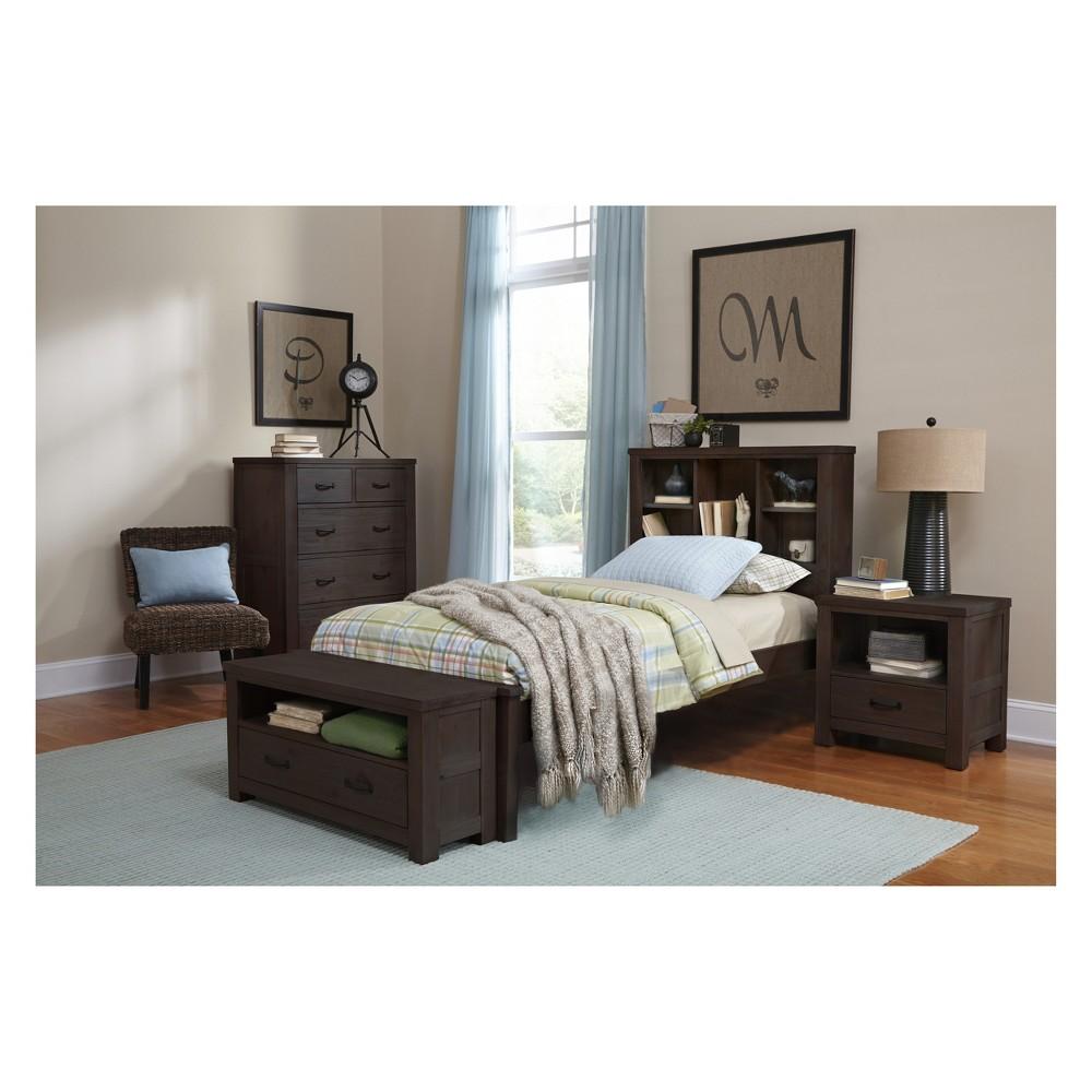 Twin Highlands Bookcase Bed Espresso (Brown) - Hillsdale Furniture
