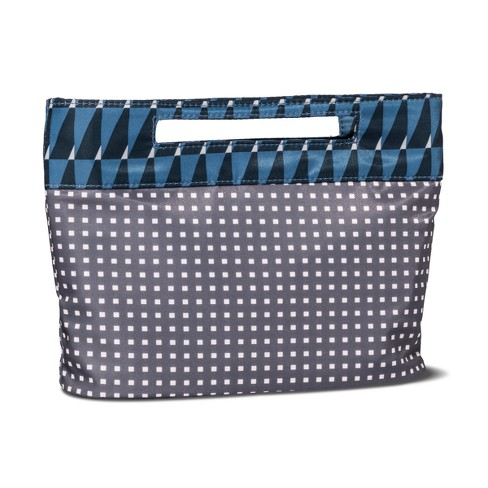Sonia Kashuk™ Cosmetic Bag Modern Pouch Charcoal Squares - image 1 of 2