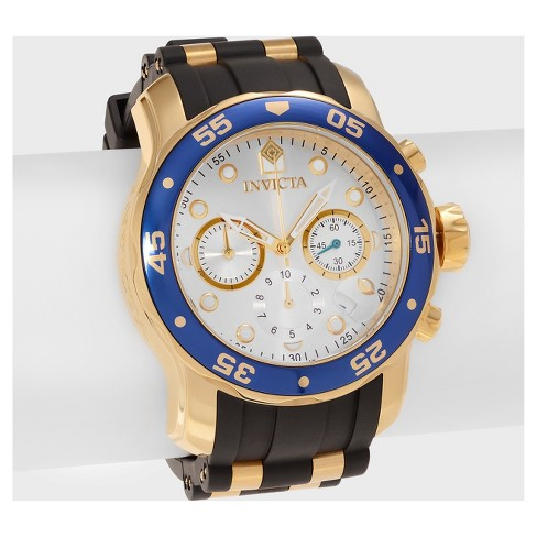 Men's Invicta Pro Diver 17880 Stainless Steel Chronograph Quartz Strap Watch - Gold - image 1 of 3