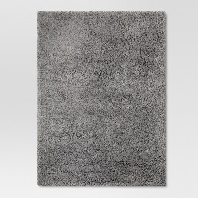 "4'x5'6"" Plush Shag Washable Accent Rug Gray - Room Essentials™"
